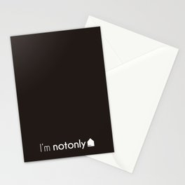 I'm notonlyARCH black Stationery Cards