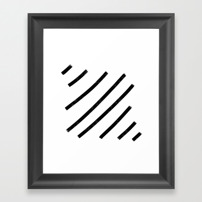 Lemme See That Line Werk Framed Art Print by Soyalmondmilk FRM8286541