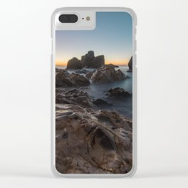 Last light on the sea horizon Clear iPhone Case