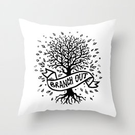 Branch Out Throw Pillow