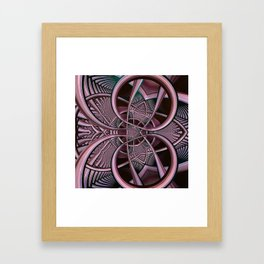 Mind-boggling, fractal abstract Framed Art Print