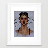 fka twigs Framed Art Prints featuring FKA Twigs by Alexander Scott