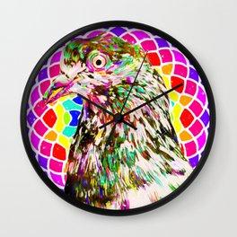 Pigeon Mandala Wall Clock
