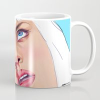 mia wallace Mugs featuring Mia Wallace by Ale Caballero
