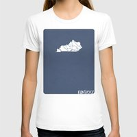 kentucky T-shirts featuring Kentucky Minimalist Vintage Map by Finlay McNevin