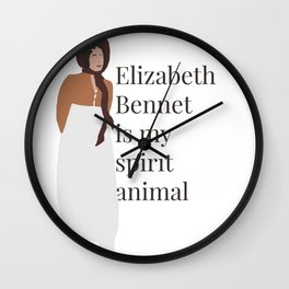 Elizabeth Bennet spirit animal Wall Clock