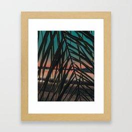 Sunset Perspective (Leaf) Framed Art Print