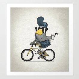 Courier Pigeon Art Print