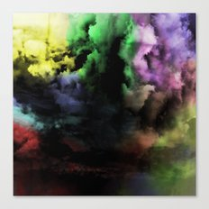 Mixed Emotions - Cloudy Black And Colour Abstract Canvas Print