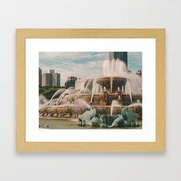 Fountain View 3 Framed Art Print
