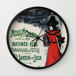 Moulin De La Galette 1896 Paris Wall Clock
