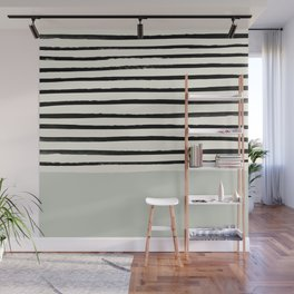 Coastal Breeze x Stripes Wall Mural