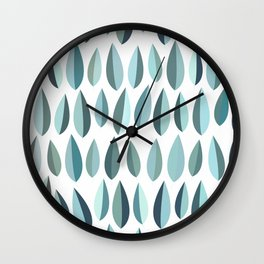 Mid-Century Modern Leaf pattern Collection 3 Wall Clock