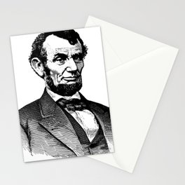 Abraham Lincoln Portrait Illustration Stationery Cards