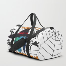 Witch Happy Halloween white Duffle Bag
