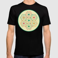 Yey! Shapes!  MEDIUM Black Mens Fitted Tee
