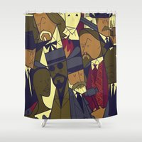 django Shower Curtains featuring Django Unchained by Ale Giorgini