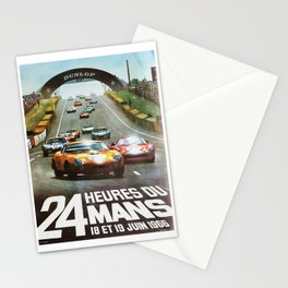 1966 Le Mans poster, Race poster, car poster, garage poster Stationery Cards