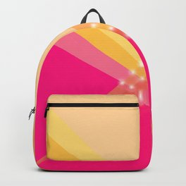 Pink and Gold Diagonal V Shape WITH LIGHTS Backpack