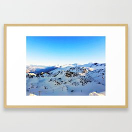Shades of blue at the mountains Framed Art Print