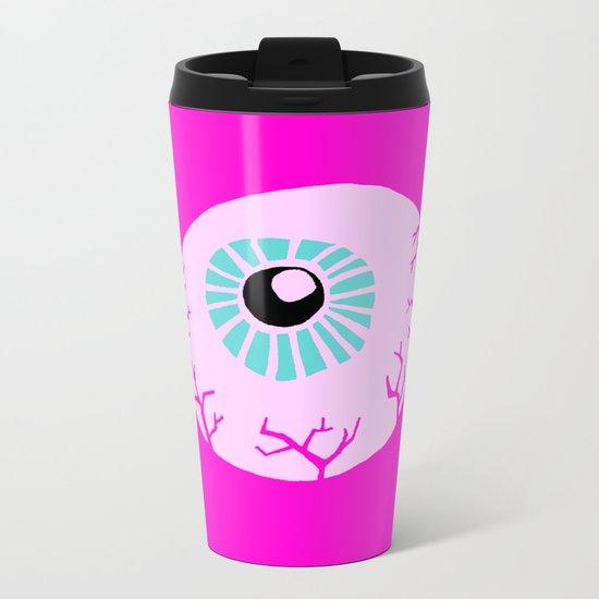 Pink Eye Metal Travel Mug