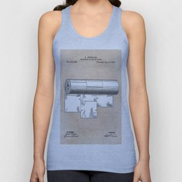 patent art Wheeler Wrapping of toilet paper 1894 Unisex Tank Top