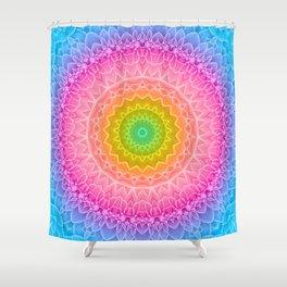 mandala dahlia Shower Curtain