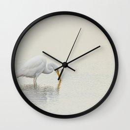 Egret Finds Himself Wall Clock
