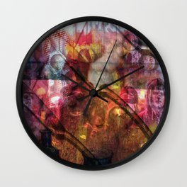 Knives And Pearls: The Black Fire Protests Wall Clock