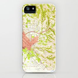Hayward, CA from 1947 Vintage Map - High Quality iPhone Case