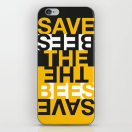 Save the Bees iPhone Skin