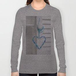 Blue Heart of beads Long Sleeve T-shirt