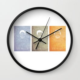 Andy, Ron, and Tom Wall Clock