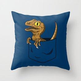 Pocket Raptor (Jurassic Park Velociraptor) Throw Pillow