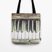piano Tote Bags featuring piano by hilde.