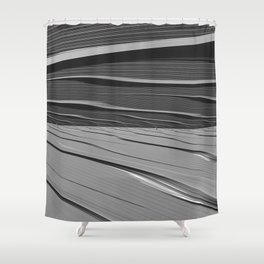dual realities: white Wasteland Shower Curtain