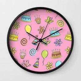 """Birthday"" (Pink) Wall Clock"
