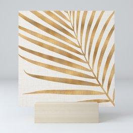 Metallic Gold Palm Leaf Mini Art Print