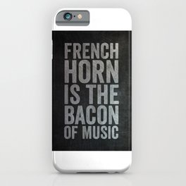 French Horn Player iPhone Case