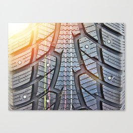 Background tread pattern winter tire Canvas Print