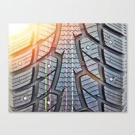 Background tread pattern winter tire Canvas Print