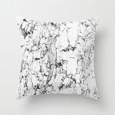white marble Throw Pillow