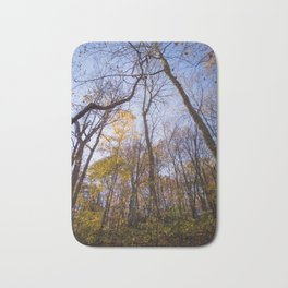 Out of the Woods | Nature Landscape Photography of Forest Yellow Leaves During Autumn Fall Bath Mat
