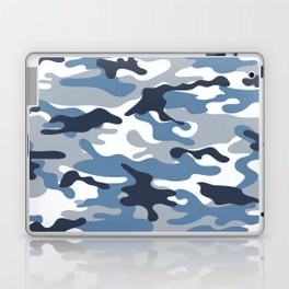 Blue and White Camo Laptop & iPad Skin