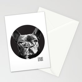 FRENCH BULLDOG FORNASETTI MUSTACHE Stationery Cards