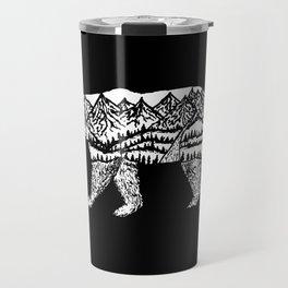 Bear Necessities in Black Travel Mug