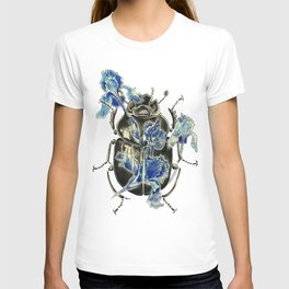 Beetle in blue irises T-shirt
