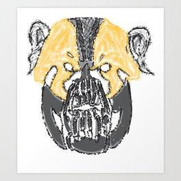 I Will Break You Panda Art Print