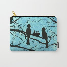 Family of Birds in the Tree Nest Carry-All Pouch