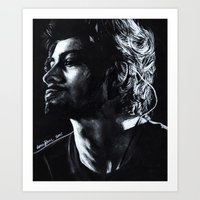 zayn Art Prints featuring Zayn by Luna Perri